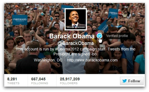 Barack Obama - truly verified on Twitter