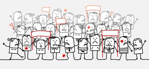 Angry Mob cartoon