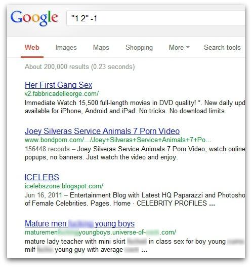 Porn search results