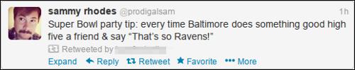 Super Bowl Tweet