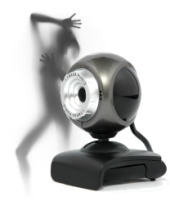 Webcam extortion. Image from Shutterstock