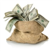Bag of money. Image from Shutterstock.