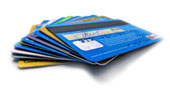 Bank cards. Image from Shutterstock