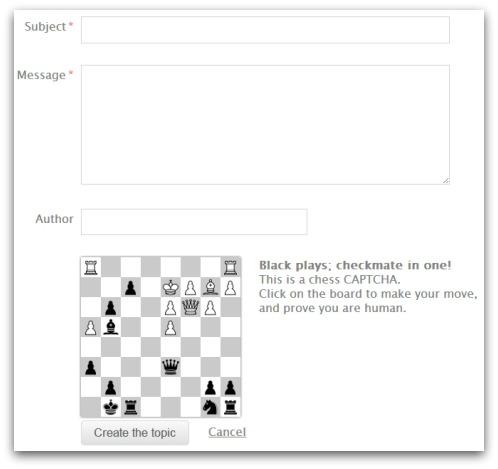 Chess CAPTCHA