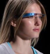 Woman wearing Google Glass