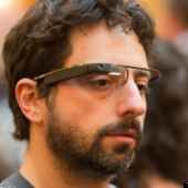 Google Co-Founder Sergey Brin wearing Google Glass. Image from Flickr