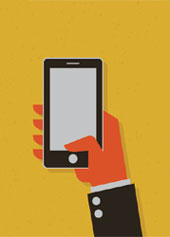 Smartphone in hand. Image from Shutterstock