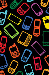 Smartphone pattern. Image from Shutterstock
