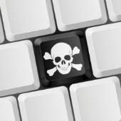Pirate keyboard, courtesy of Shutterstock