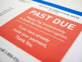 Past due bill. Image from Shutterstock