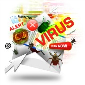 Malicious email. Image from Shutterstock