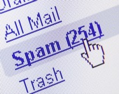 Spam inbox. Image from Shutterstock