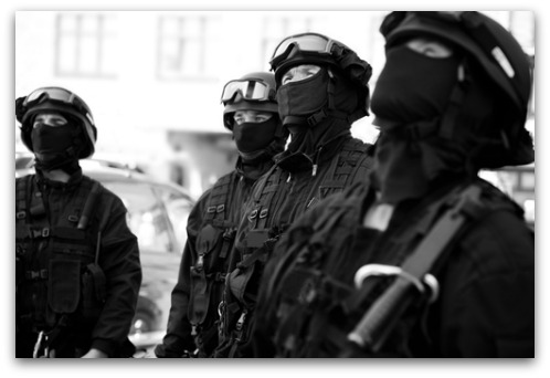 SWAT team. Image from Shutterstock