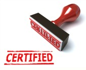 Certified stamp. Image from Shutterstock