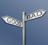 Good and bad roadsign. Image courtesy of Shutterstock.