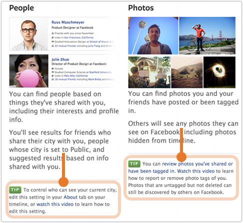 Facebook graph search tips