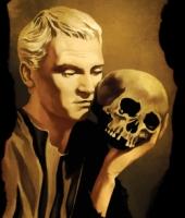 Hamlet, with skull. Image from Shutterstock