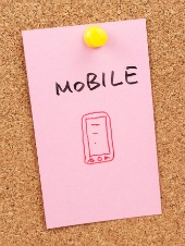 Mobile post it. Image from Shutterstock