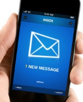 New text message. Image from Shutterstock