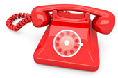 Red telehone. Image from Shutterstock