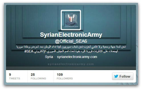 Latest Syrian Electronic Army Twitter account