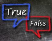 True false chatter. Image from Shutterstock