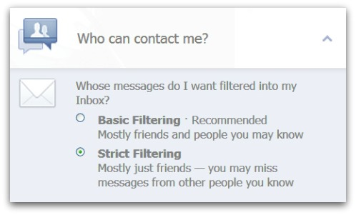 Who can contact you on Facebook?