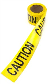 Caution tape, image courtesy of Shutterstock