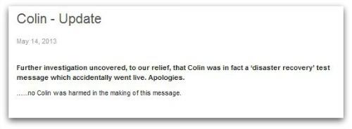 colin update