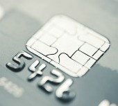 Credit card chip. Image from Shutterstock