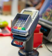 Credit card terminal. Image from Shutterstock
