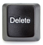 Delete button. Image from Shutterstock