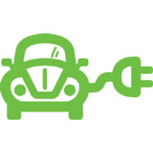 Electric car, image courtesy of Shutterstock