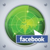 Facebook on map. Image from Shutterstock