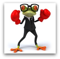 Fighting business frog