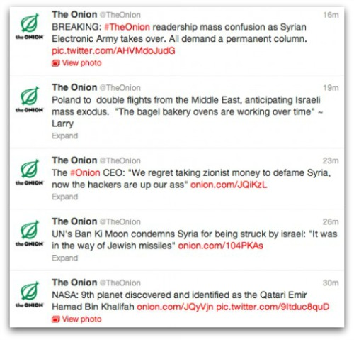 The Onion twitter