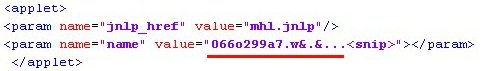 Obfuscated payload URL passed into Java