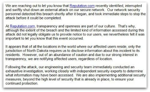 Reputation.com email