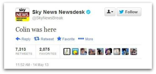 Sky News tweet