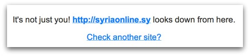 Syrian website inaccessible