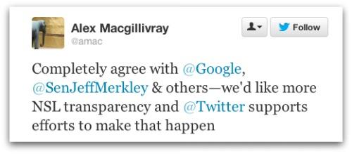 Alex Macgillivray tweet