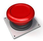 Red button. Image courtesy of Shutterstock.