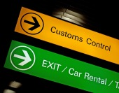 Customs sign, courtesy of Shutterstock