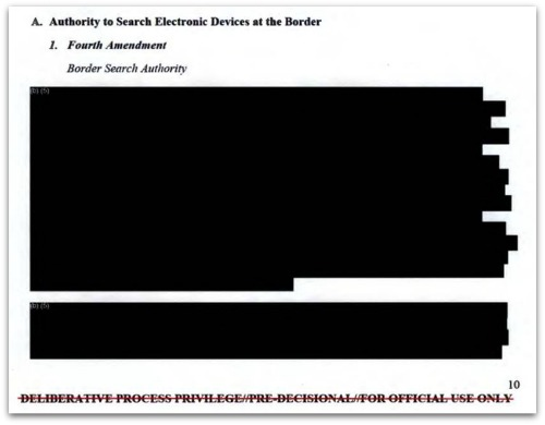 DHS Border Searches of Electronic Devices