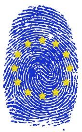 EU fingerprint, image courtesy of Shutterstock