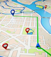 GPS map. Image courtesy of Shutterstock