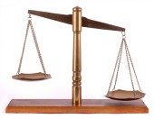 Justice scale, image courtesy of Shutterstock