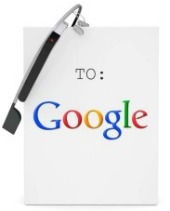 Letter to Google. Image courtesy of Shutterstock