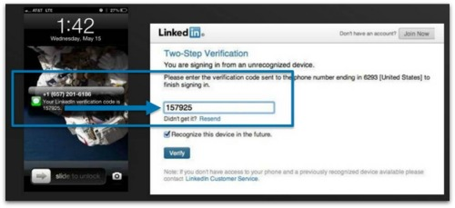 LinkedIn 2FA
