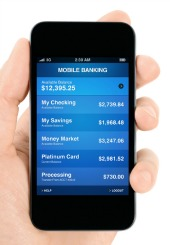 Mobile banking. Image courtesy of Shutterstock
